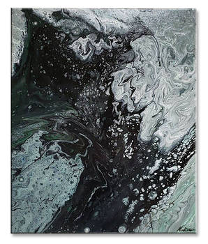 Black and Gray Pour 7718