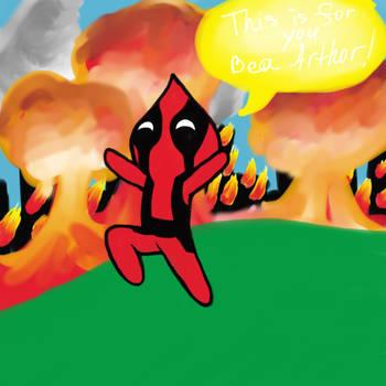 Frolicking Deadpool by RevolutionVLN