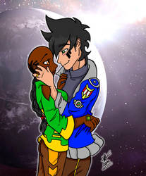 Xerx and Neela - Updated Romantic Portrait by WildSpaceSaga