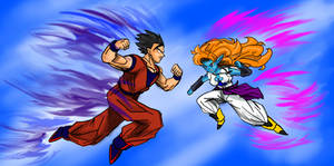 Mystic Gohan vs Zangya