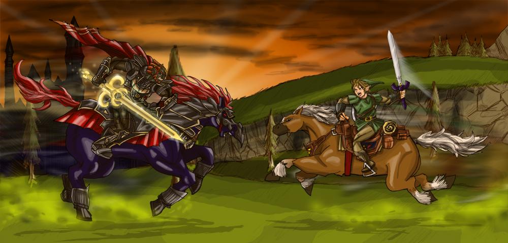 Link vs Ganondorf TP by dskemmanuel