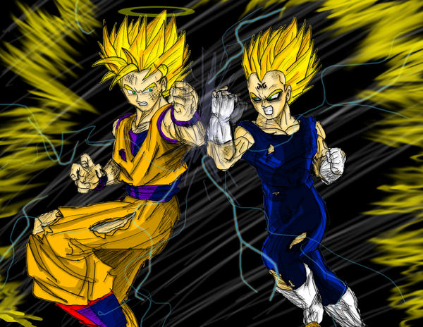 Ssj2goku Vs Majin Vegeta By Dskemmanuel On DeviantArt