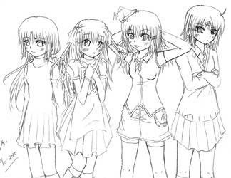 Girls by kibakosaru
