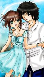 Haru and BoyBoy coloured by kibakosaru