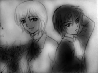 Kyota and Chiru by kibakosaru