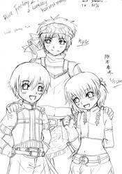 Rune Factory 2 (Kyle and children) by kibakosaru