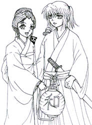 Kazuko and kazushi (Samurai ?) by kibakosaru