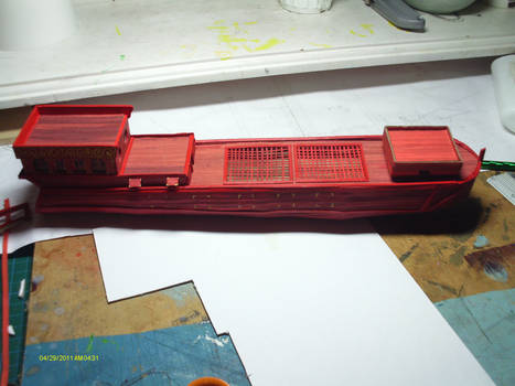 finished hull, stern details