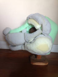 Ferret fursuit head WIP side view by SkyeHighSuits