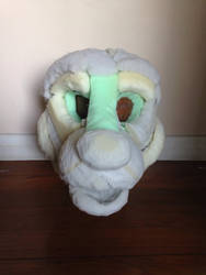 Ferret fursuit head WIP front view  by SkyeHighSuits