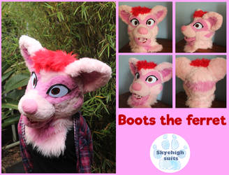 Boots the ferret! by SkyeHighSuits
