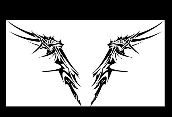 WingDragon tribal tattoo by MordridFantastic on deviantART