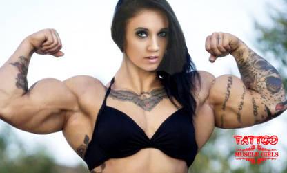 Tattoo Muscle Girl by Morphdogen