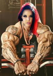 Kinky Muscle Babe by Morphdogen
