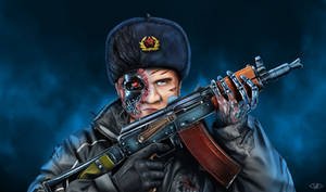 Cybernetic soldier from Soviet Russia