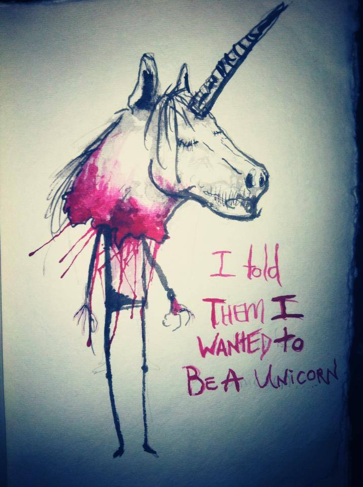 I Told Them I Wanted to Be a UNICORN!!!!! by Papierschnitt