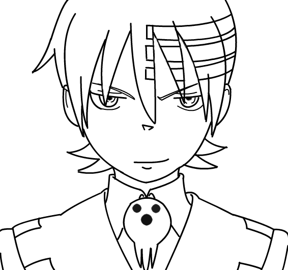 how to draw soul eater death the kid