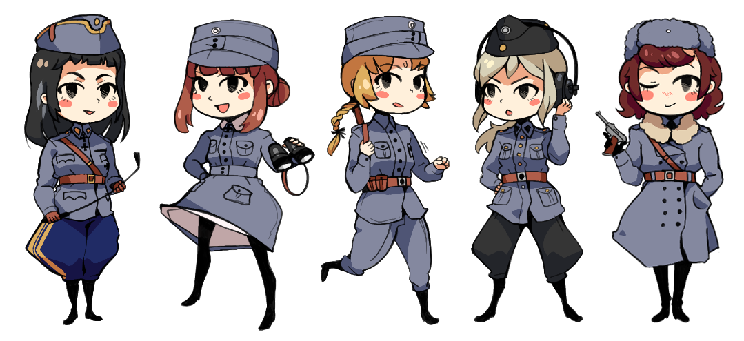 Finnish military girls by Essu
