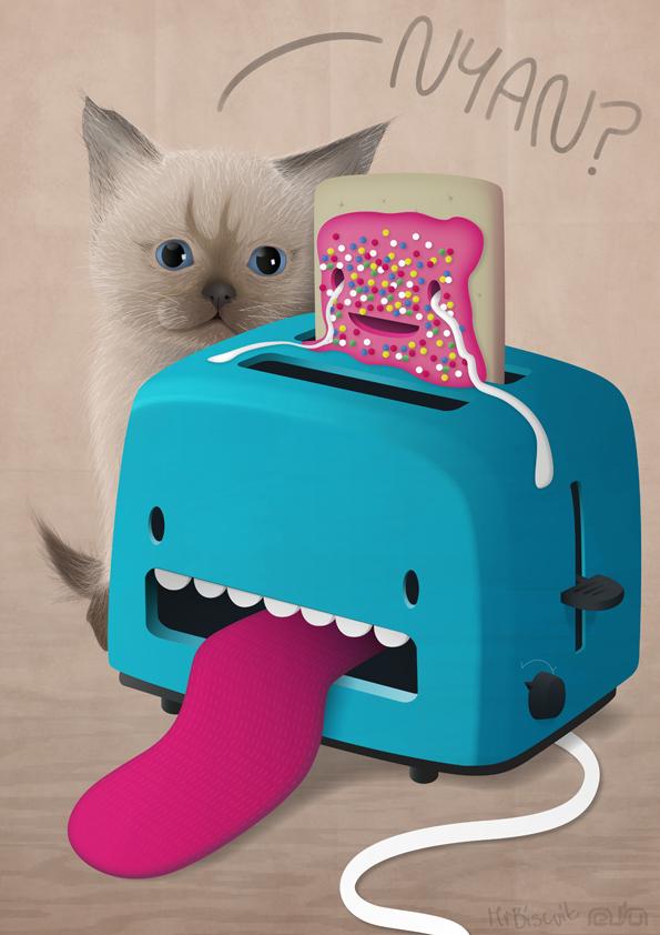 Nyan-Tart by lightboxmagic