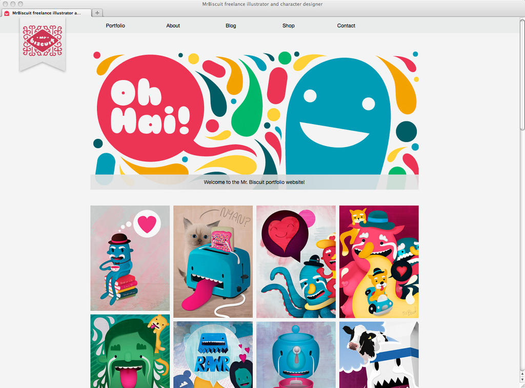 Mr. Biscuit Portfolio Website by lightboxmagic