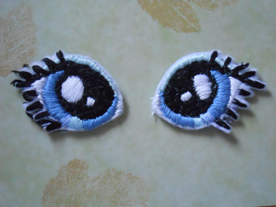 Eyes For Amigurumi : Embroidery eyes example by plushprincess on deviantart