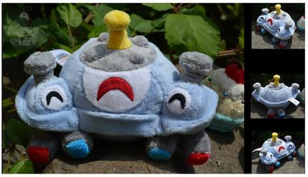 Happy little Magnezone by PlushPrincess