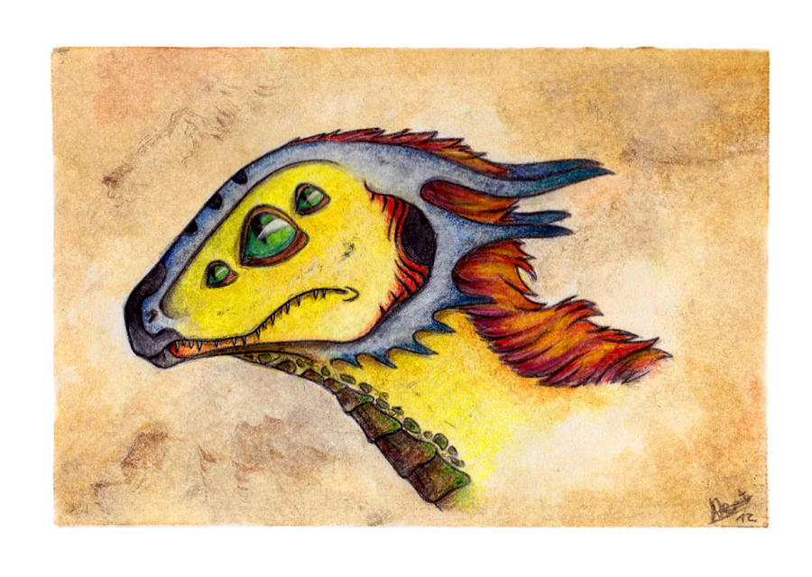 Dragon Sketch: Chicky by Cerasyl