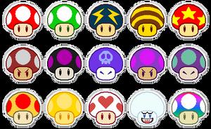 Mushroom -Stickers