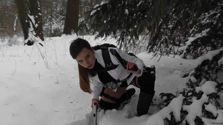 Tomb Raider Lara Croft Cosplay Underworld Snow by DayanaCroft