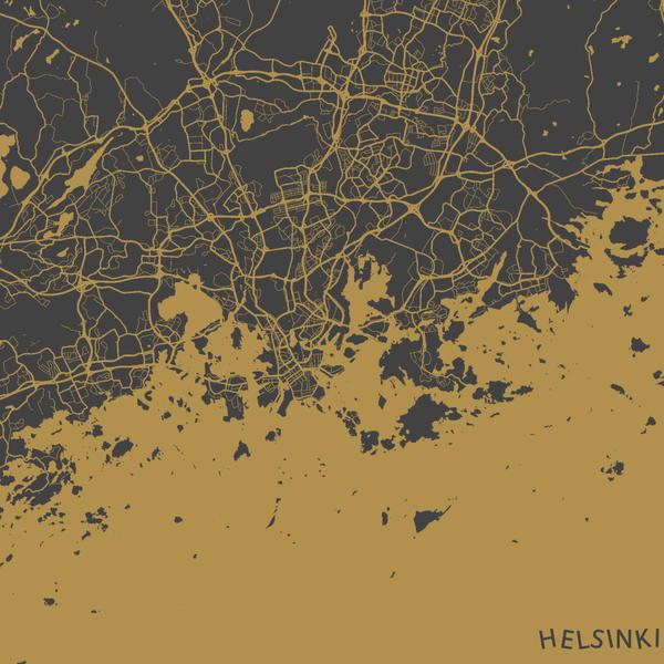 Helsinki by MapMapMaps