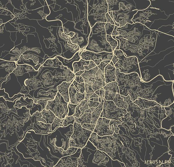 Jerusalem by MapMapMaps