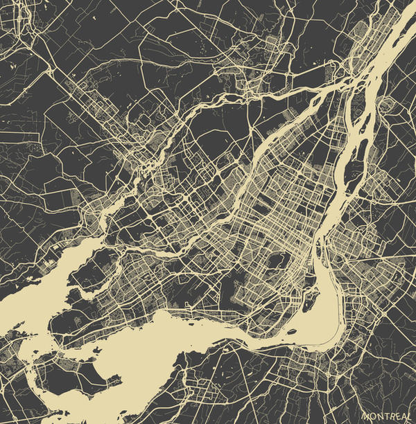 Montreal by MapMapMaps