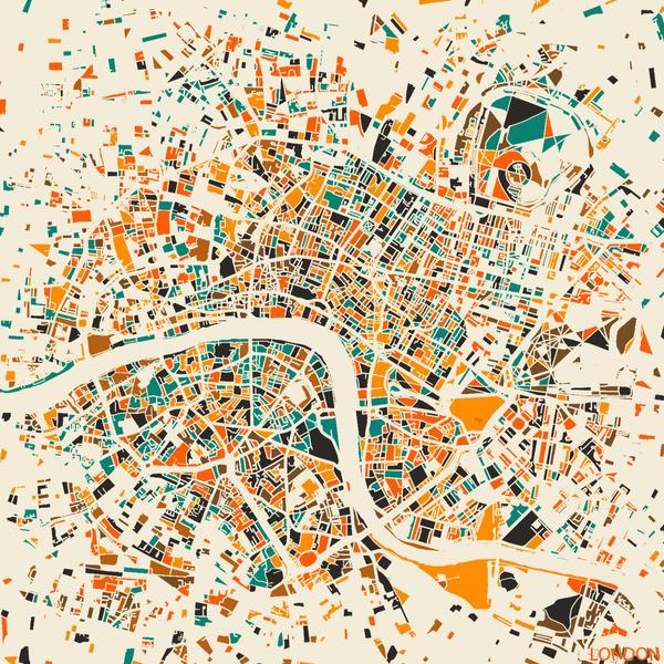 London Mosaic Map by MapMapMaps