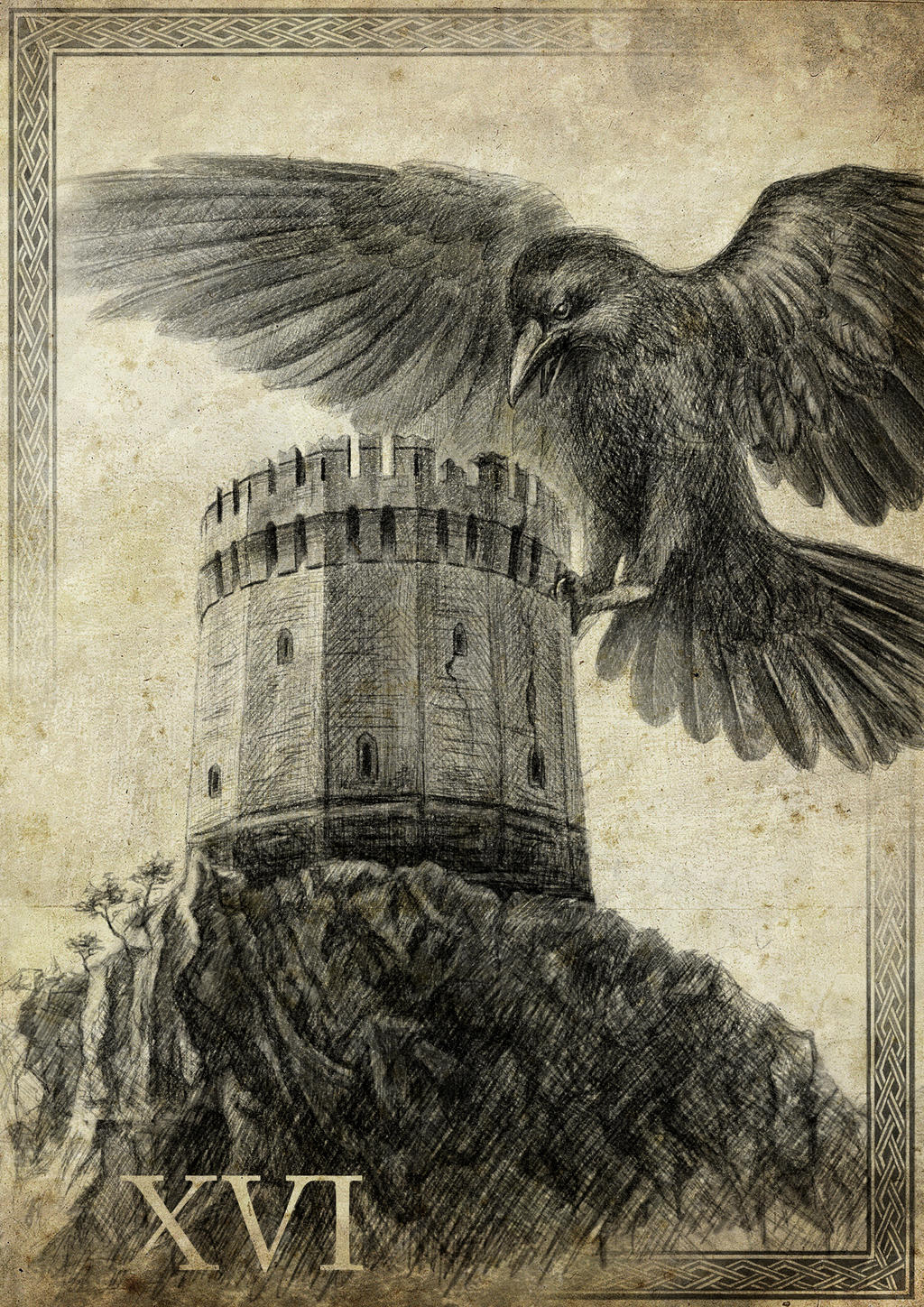 Tarot - XVI. The Tower by IntoTheBear