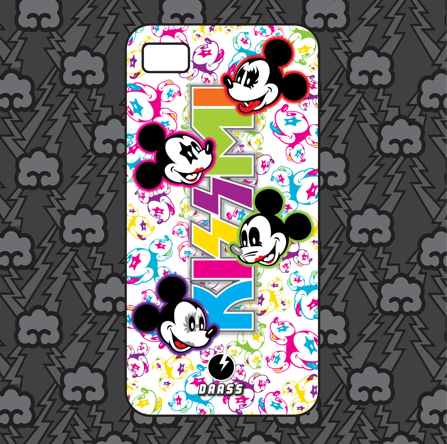 KissMi Iphone 5 case by naugthy-devil