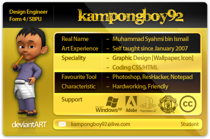 deviantART ID - Updated by kampongboy92