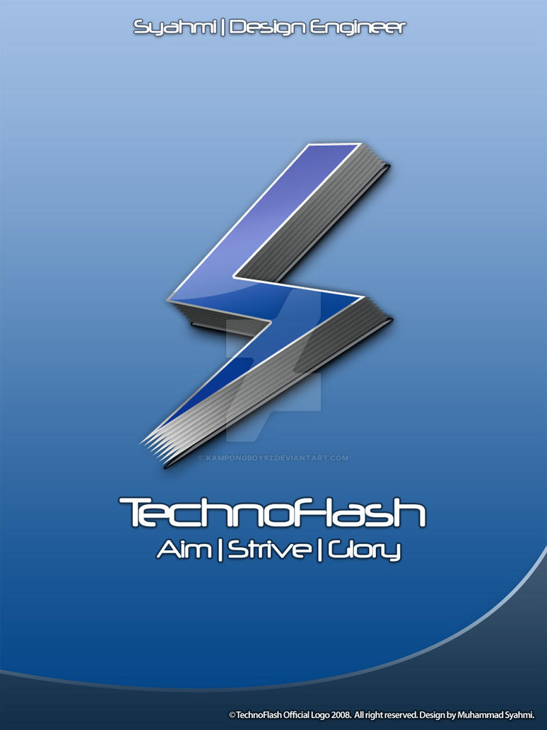 TechnoFlash Official Logo by kampongboy92