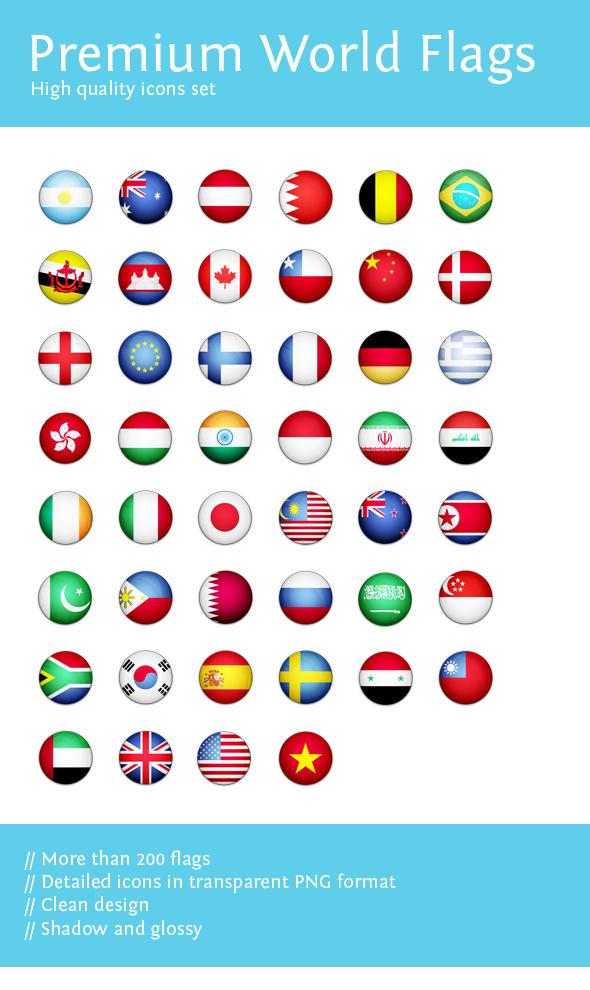 Premium World Flags