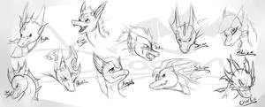 (Gift) Dragon Head Sketches
