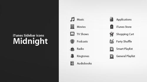 iTunes Sidebar - Midnight by nawong