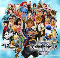 Kingdom Hearts II - characters by Kaira-Nadima