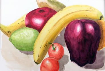 Watercolour Fruit 1