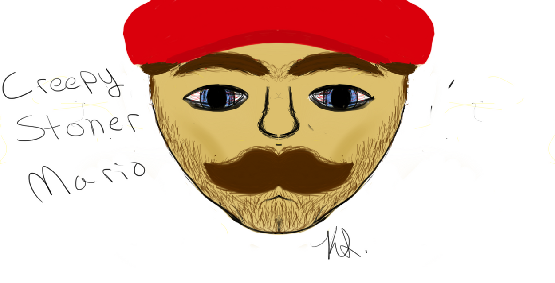 Creepy Stoner Mario Made by Kelsey by msfightera on DeviantArt