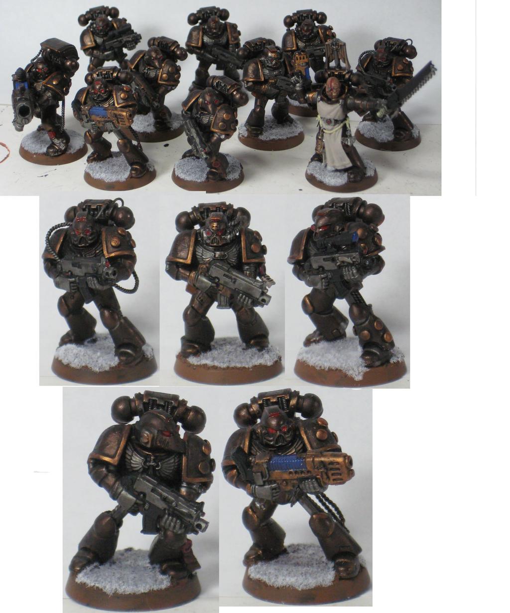 Dark Vengance Iron Hands Squad by fallingstar1756