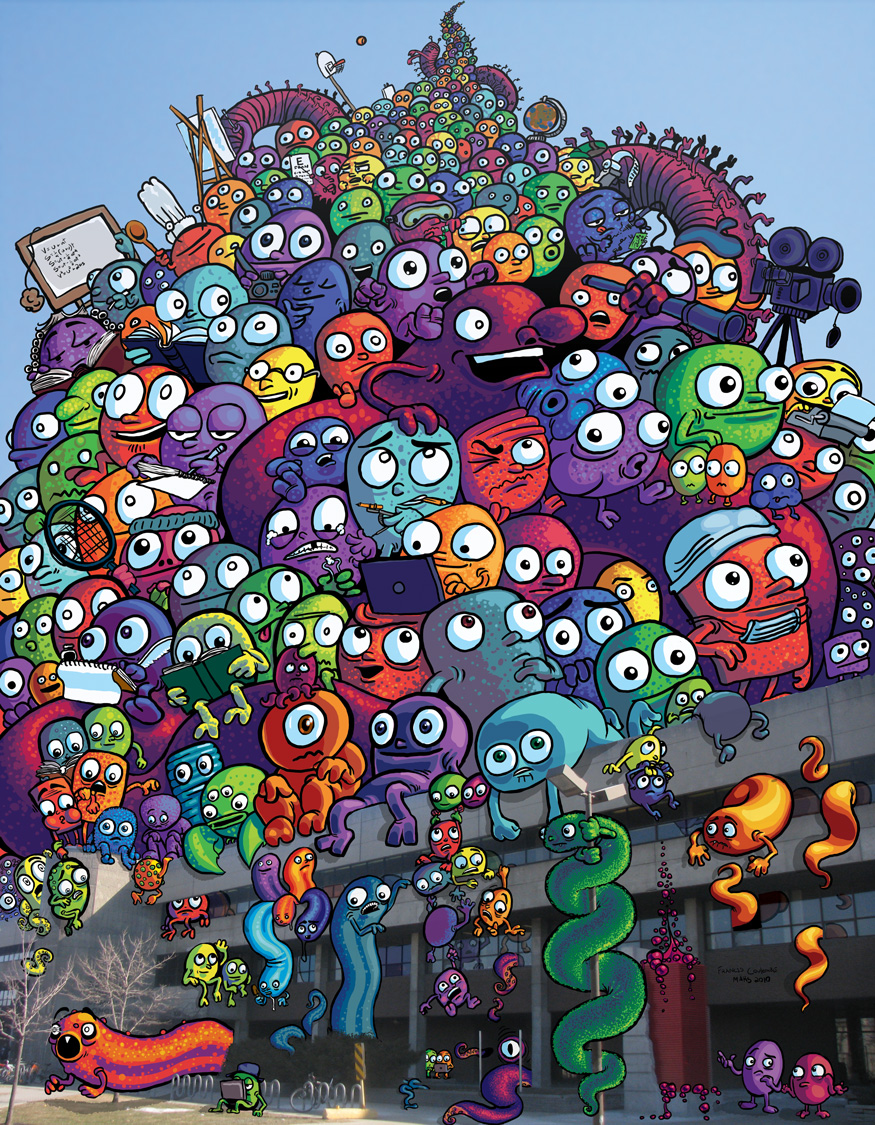 Monsters on a college by FrankieSmileShow