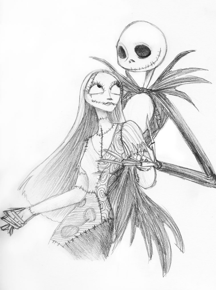 Jack + Sally -lineart- by Emmacabre on DeviantArt