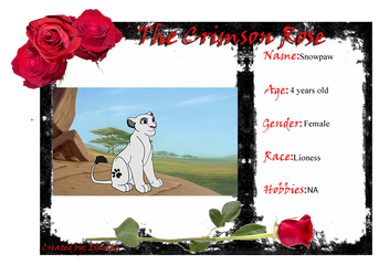 The Crimson Rose Character Application snow paw by 6goose1994