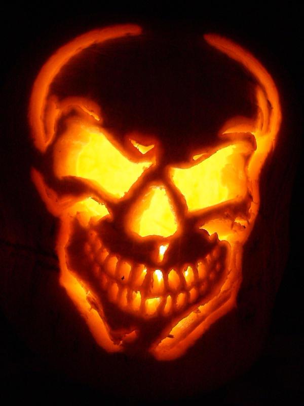 Image gallery skull pumpkin for Skull pumpkin carving ideas