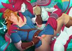 LINK AND SIDOOOON!! by eroskunlove