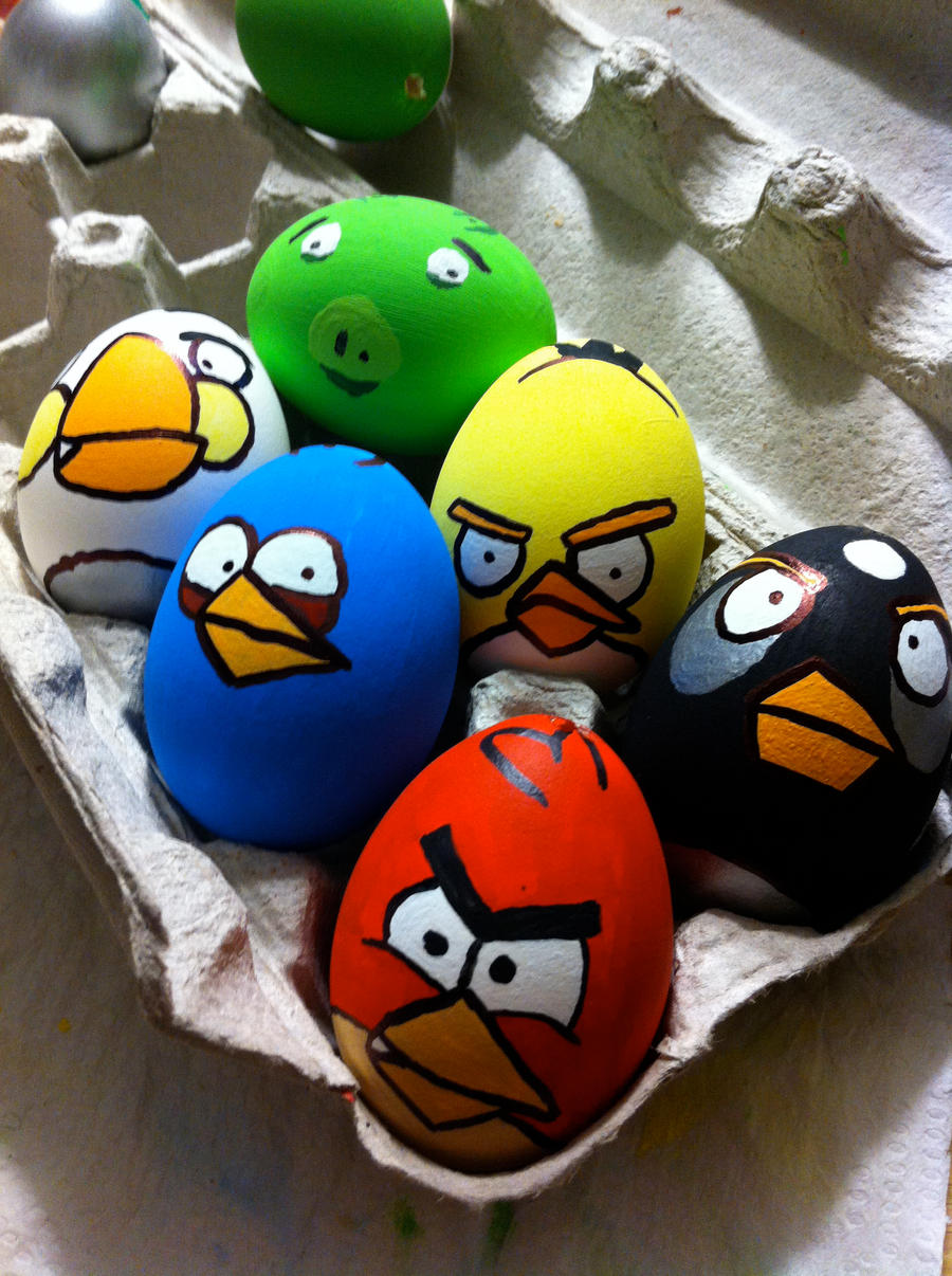 Angry Birds Easter Eggs by garfey